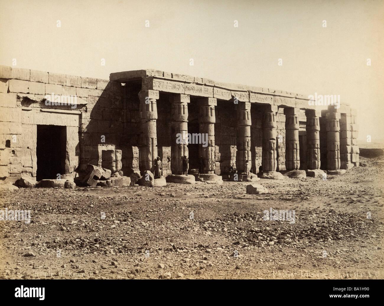 Geografia / viaggi, Egitto, Tebe West Bank, Kurna, tempio mortuario di Seti I (circa 1304 - 1290 BC, XVIII dinastia), Immagini Stock
