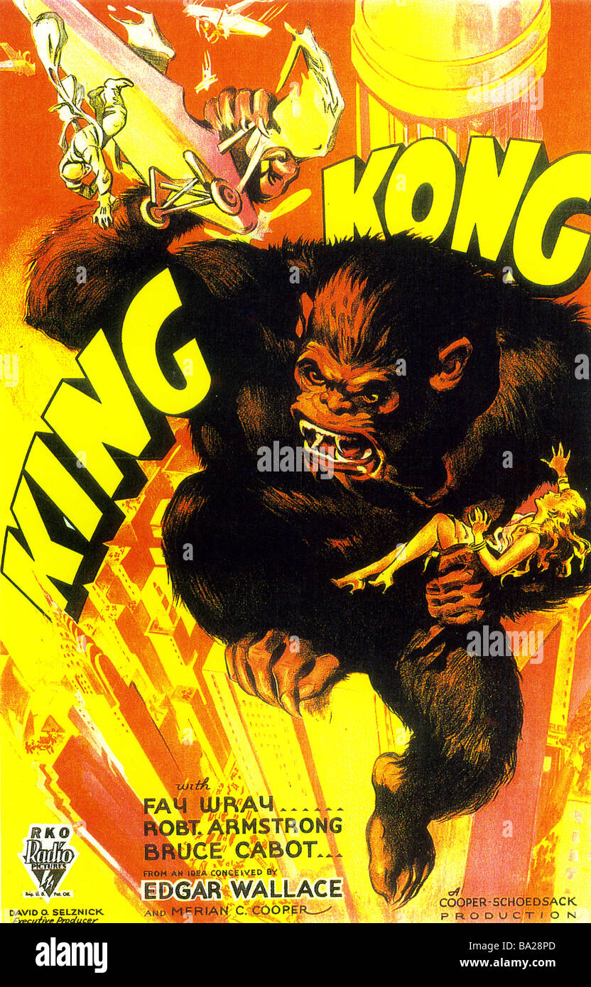 KING KONG Poster per 1933 RKO film Immagini Stock