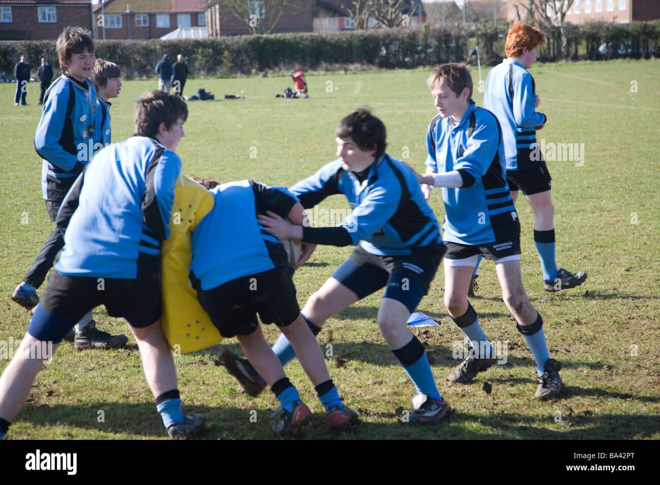 Formazione di rugby Immagini Stock