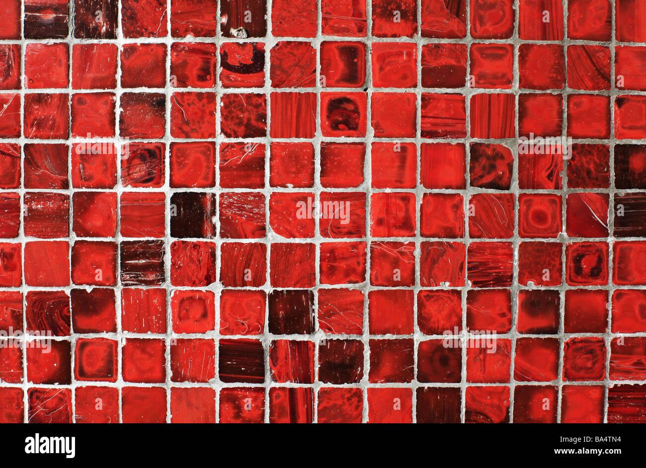 Rosso Sfondo piastrelle Immagini Stock