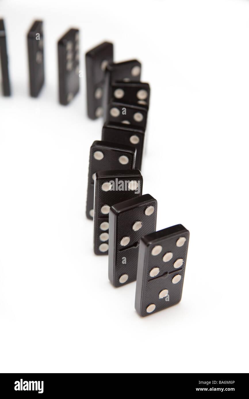Domino s isolato su un bianco di sfondo per studio Immagini Stock