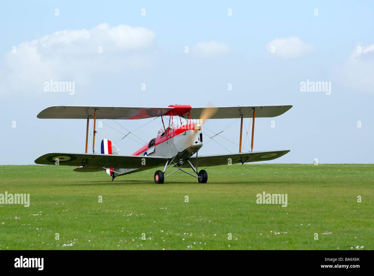 Tiger Moth biplano Immagini Stock