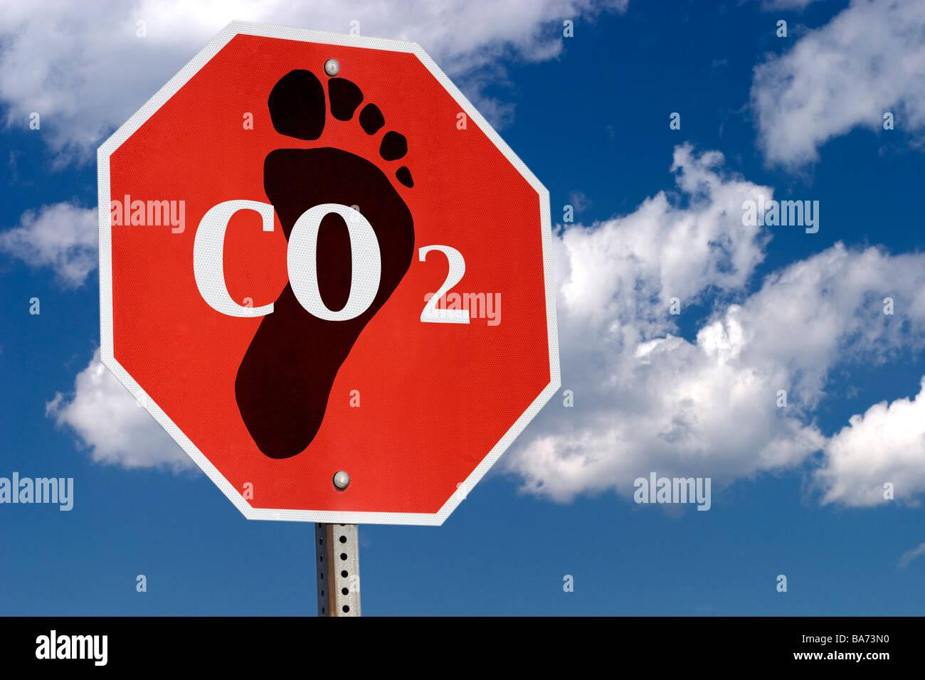 Smettere di emissioni di anidride carbonica Immagini Stock