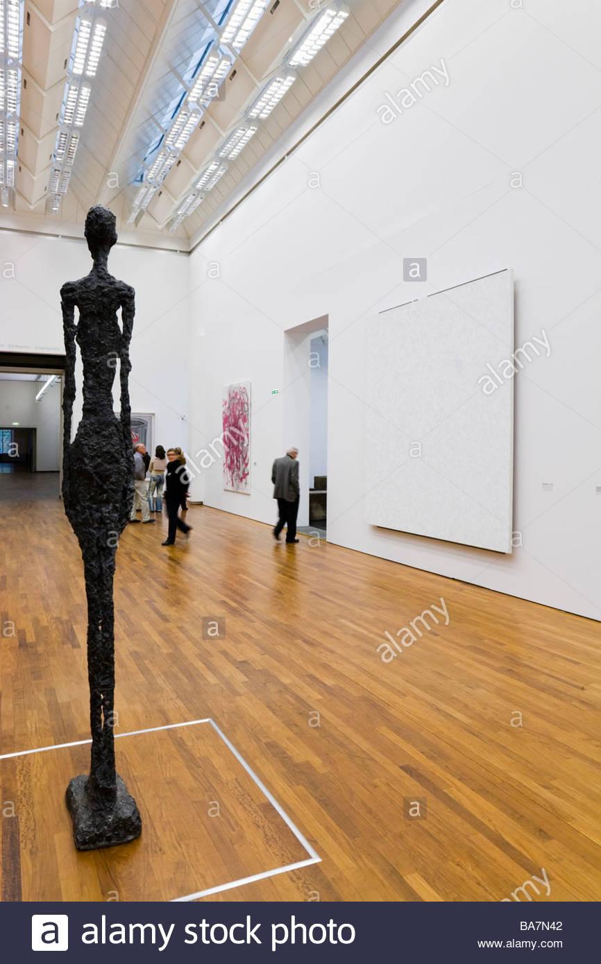 Scultura di Giacometti nel Kunsthaus Art Museum, Zurigo, Svizzera Immagini Stock