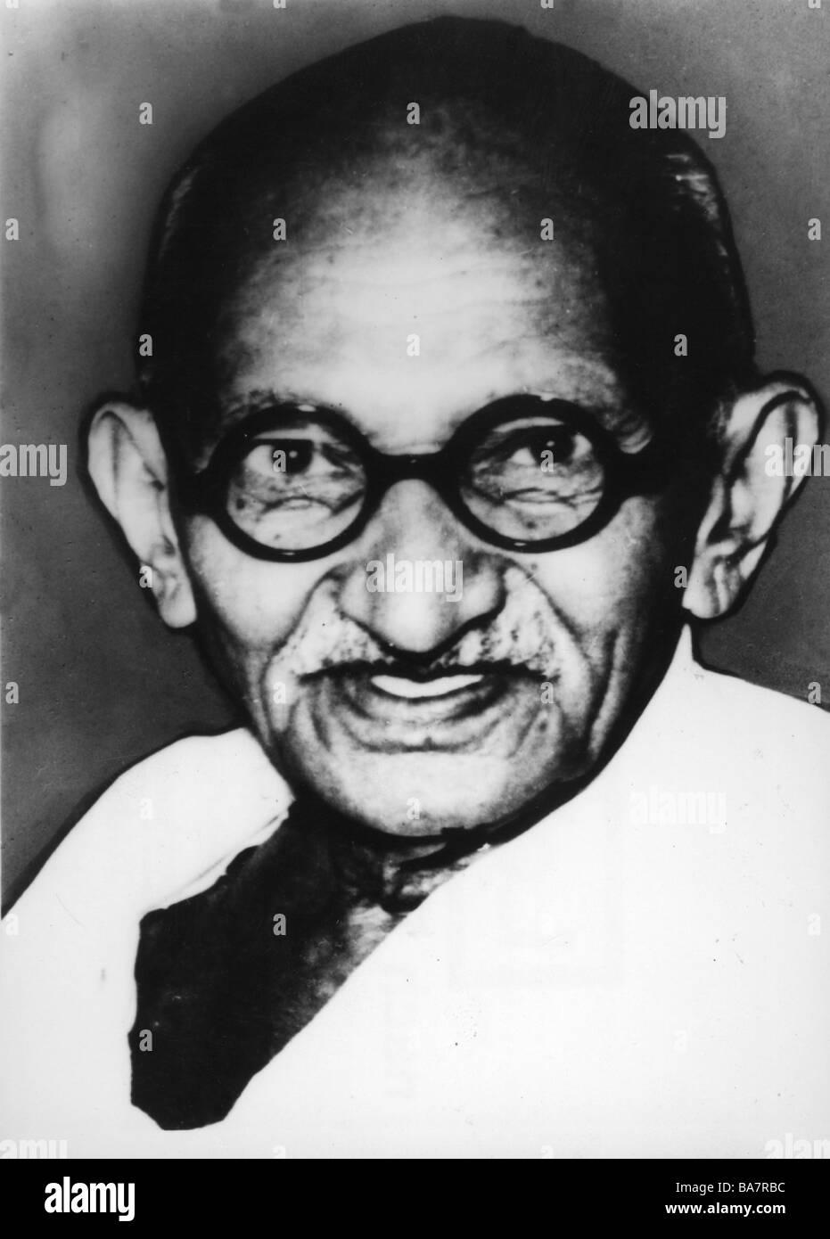 , Gandhi Mohandas Karamchand chiamato mahatma, 2.10.1869 - 30.1.1948, uomo politico indiano, ritratto, 1930s, , Immagini Stock
