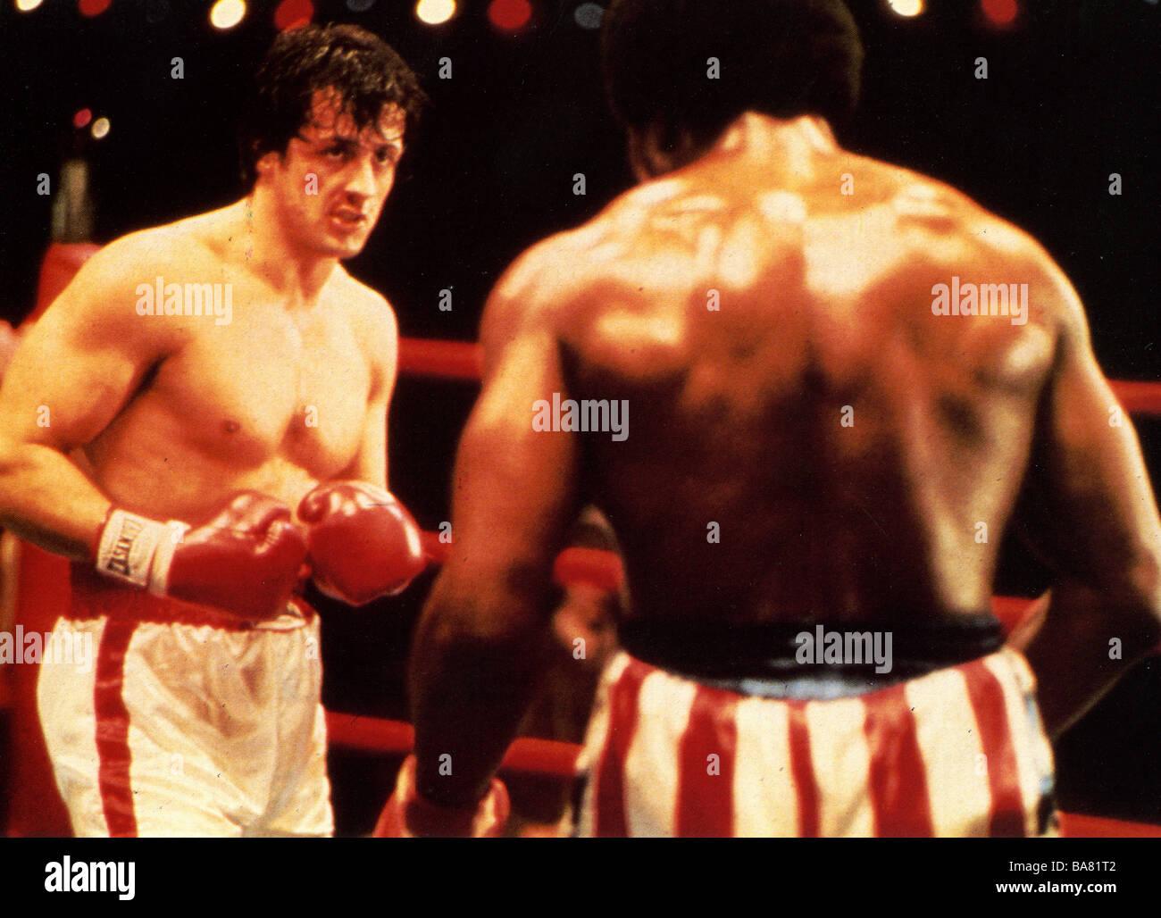 ROCKY 1976 UA film con Sylvester Stallone Immagini Stock