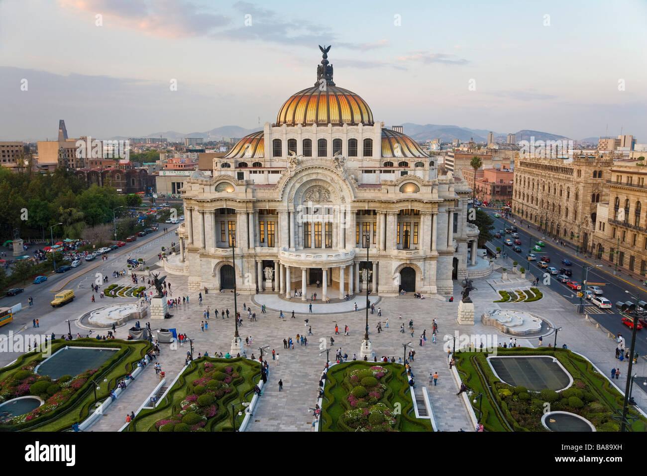 Palacio del Belles Artes Città del Messico MESSICO Immagini Stock