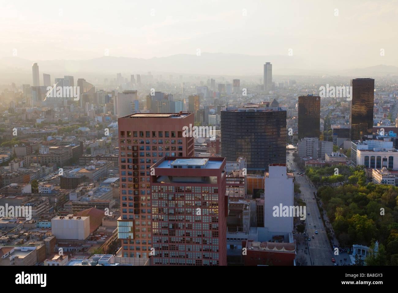 Vista su Città del Messico Immagini Stock