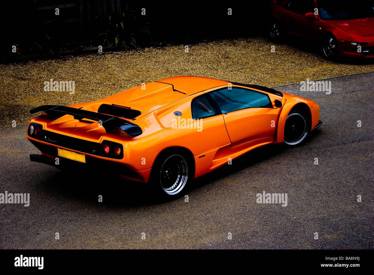 Arancio Brillante Degli Anni Novanta Anni Novanta Lamborghini Diablo