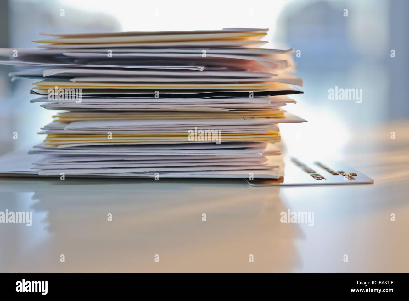 Pila di posta Immagini Stock