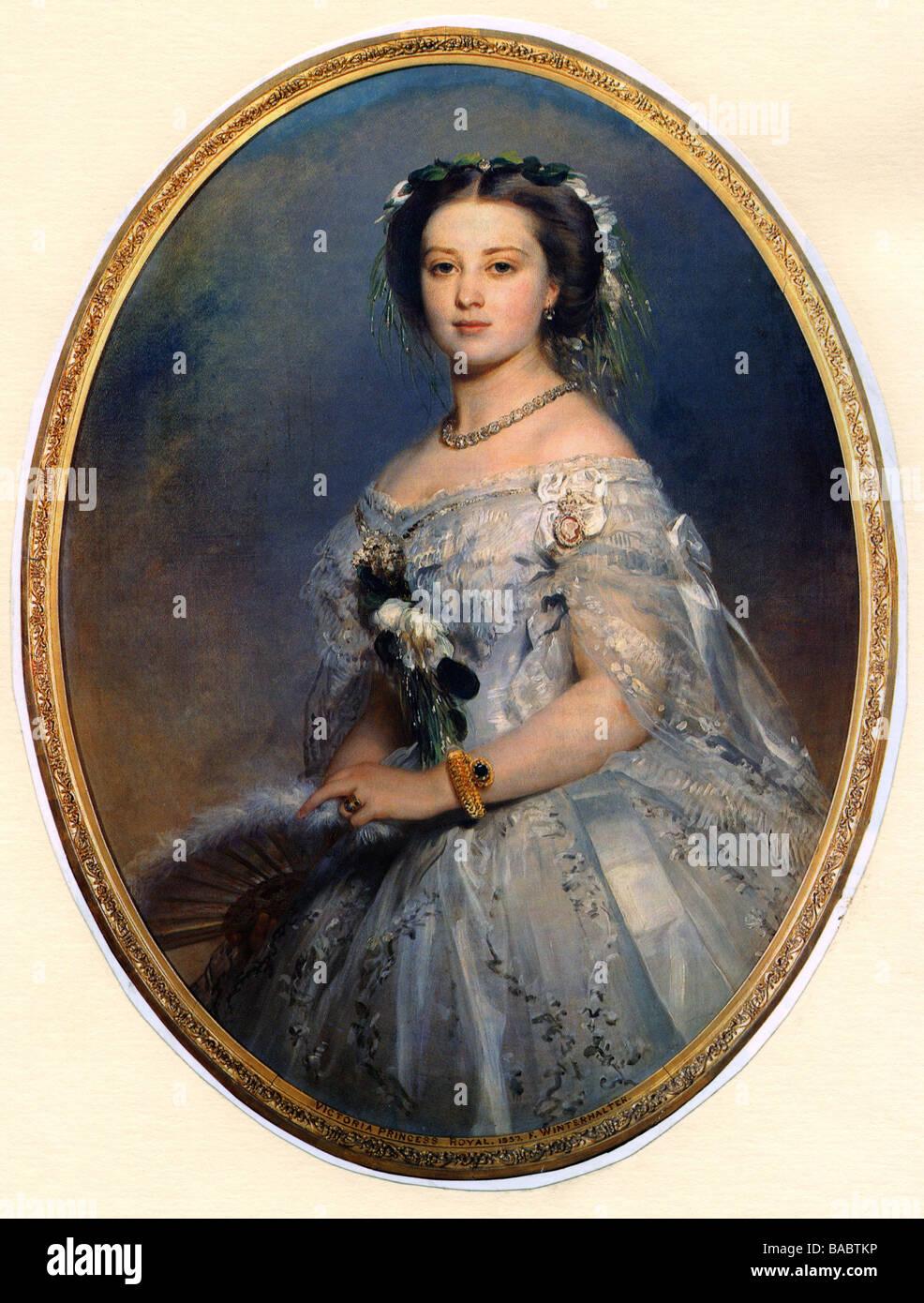 Victoria Adelaide, 21.11.1840 - 5.8. 1901, Empress Consort 9.3.1888 tedesco - 15.6.1888, a mezza lunghezza, dopo Foto Stock