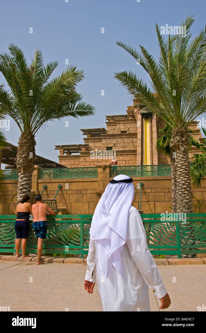 Parco acquatico Aquaventure Atlantis Dubai Immagini Stock