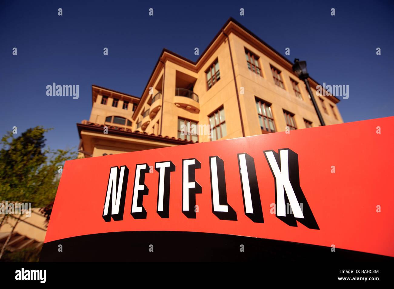 La sede centrale di Netflix Inc su Winchester Blvd in San Jose California. Immagini Stock
