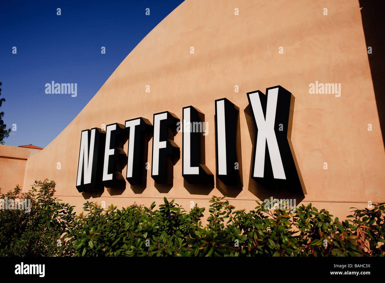 La sede centrale di Netflix Inc su Winchester Blvd in San Jose California Immagini Stock