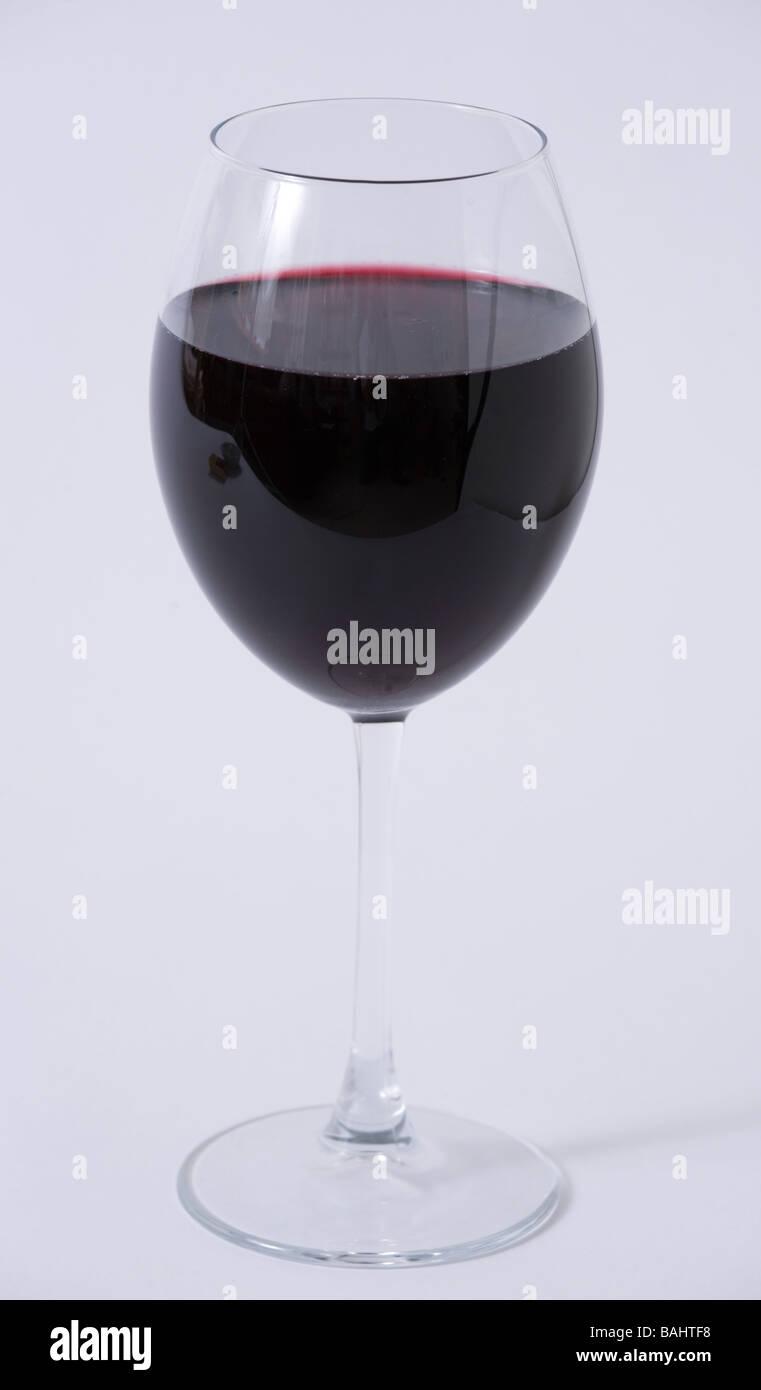 bicchiere di vino rosso Immagini Stock