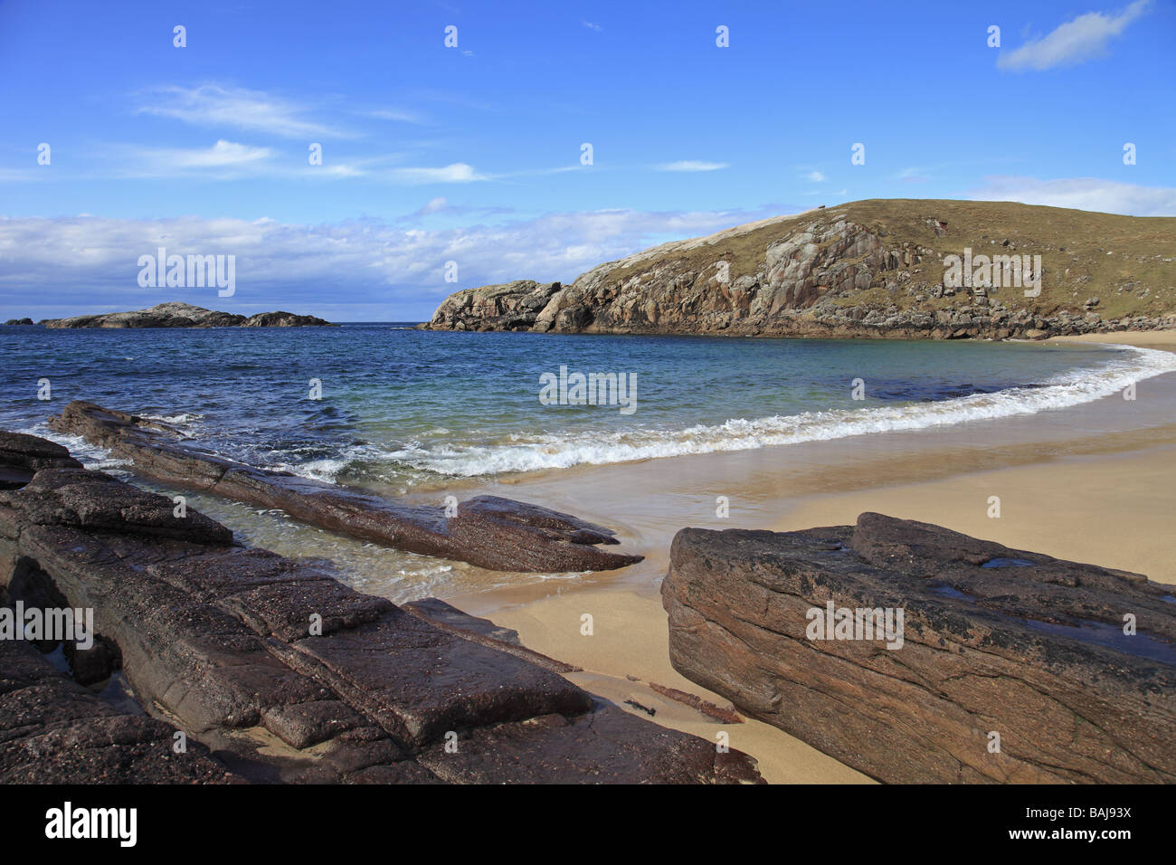 Sheigra beach, nr Kinlochbervie, Sutherland, Scozia Foto Stock