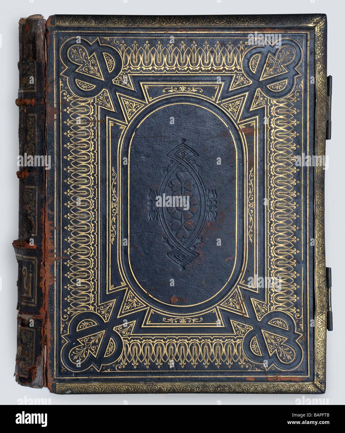 In vecchio stile per la copertina del libro Immagini Stock
