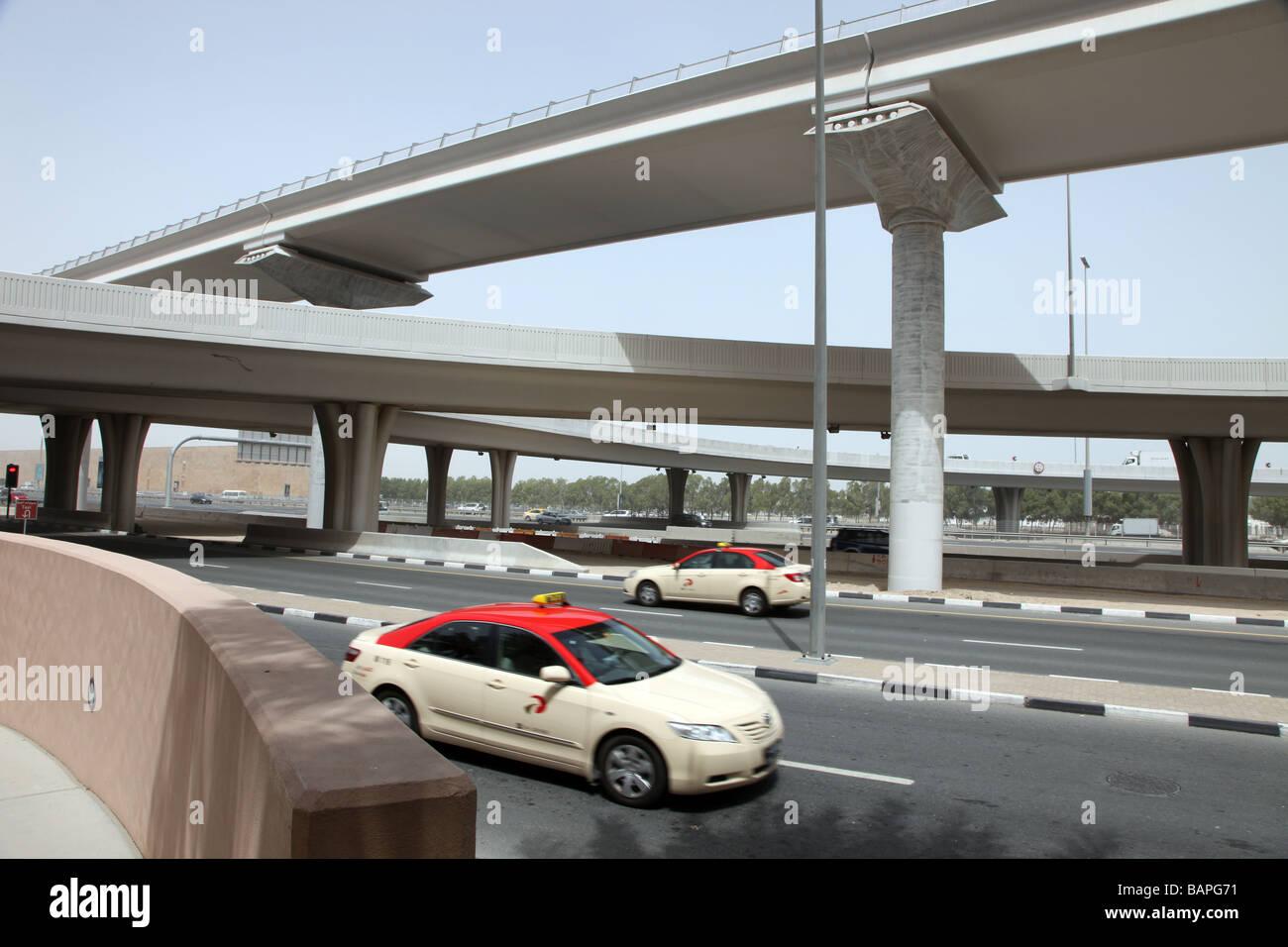 Strade del centro di Dubai Emirati Arabi Uniti Immagini Stock