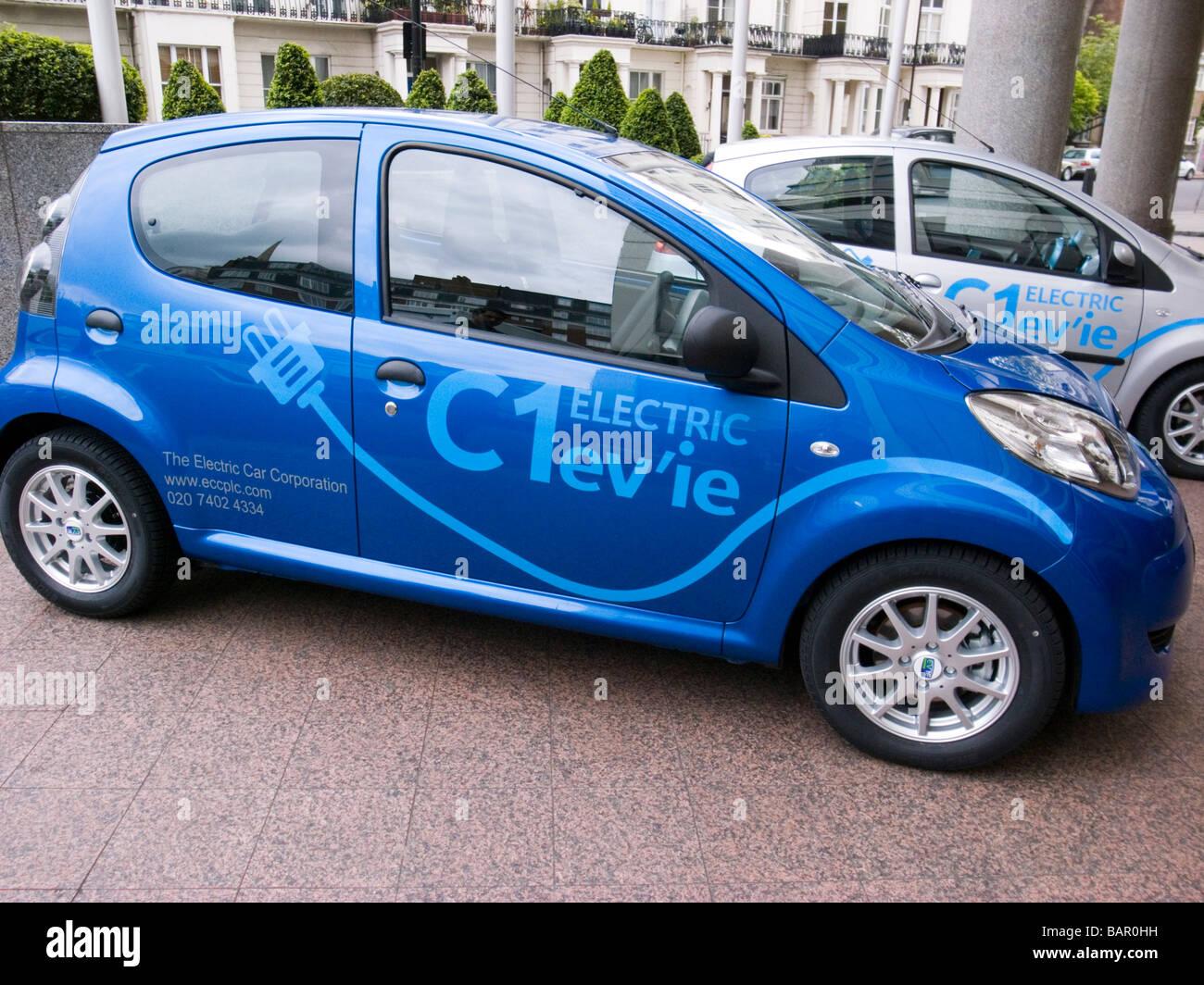 C1 ev'ie auto elettrica basato su Citroen C1 dall'auto elettrica Corporation, lanciato a Londra il 30 aprile Immagini Stock