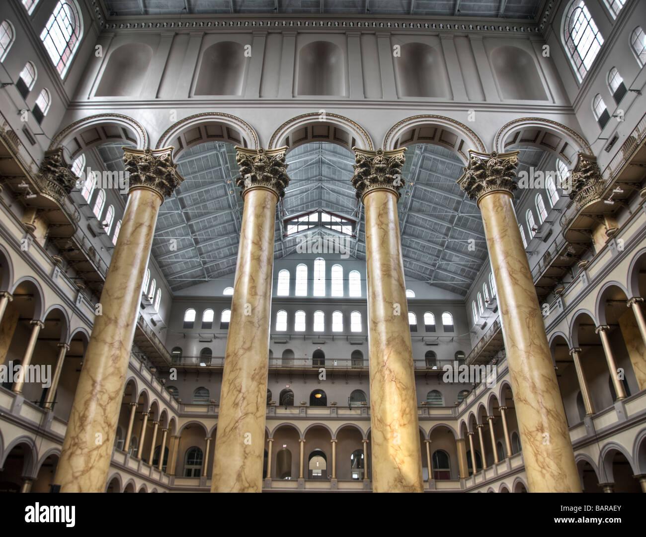 National Building Museum di Washington, DC, un museo di architettura, progettazione, la costruzione e la pianificazione Immagini Stock