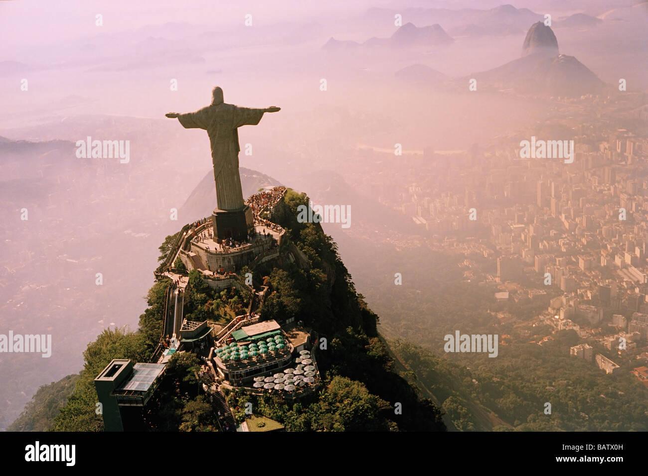 Il Brasile, Rio de Janeiro, Cristo Redentore statua Immagini Stock