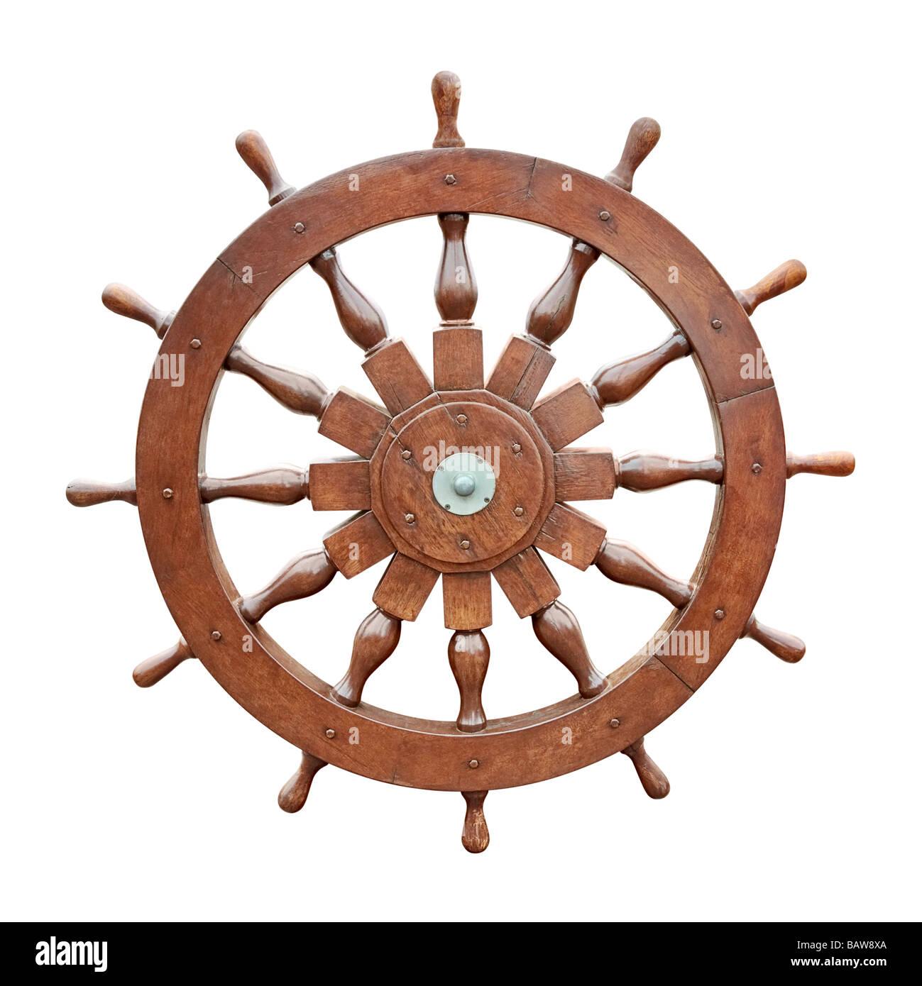 Il volante della barca a vela intaglio Immagini Stock