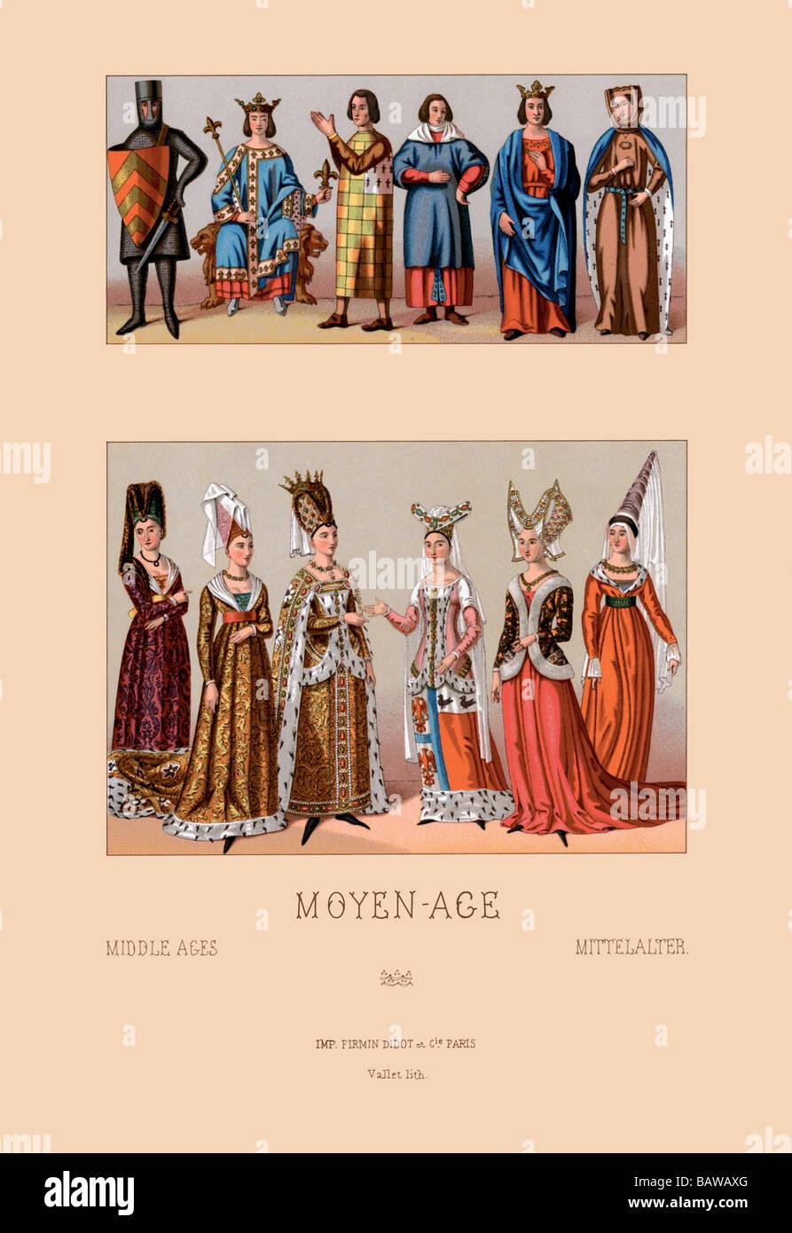 Aristocrazia medievale Immagini Stock