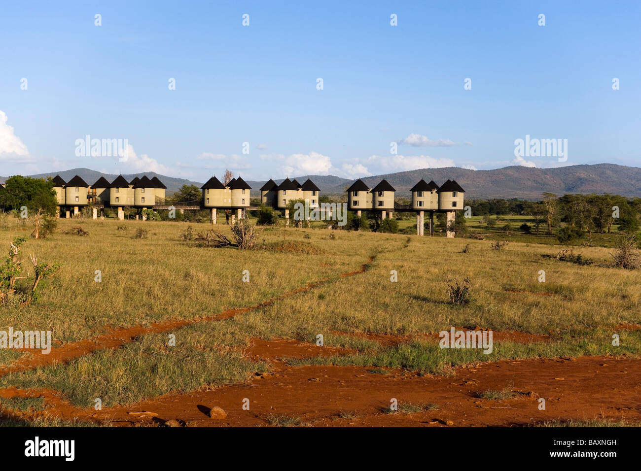 Sarova Salt Lick Lodge, Taita Hills Game Reserve, costa, Kenya Immagini Stock