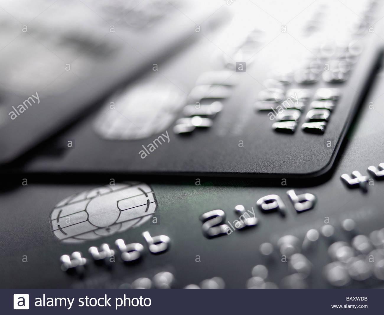 Close up di carte di credito Immagini Stock