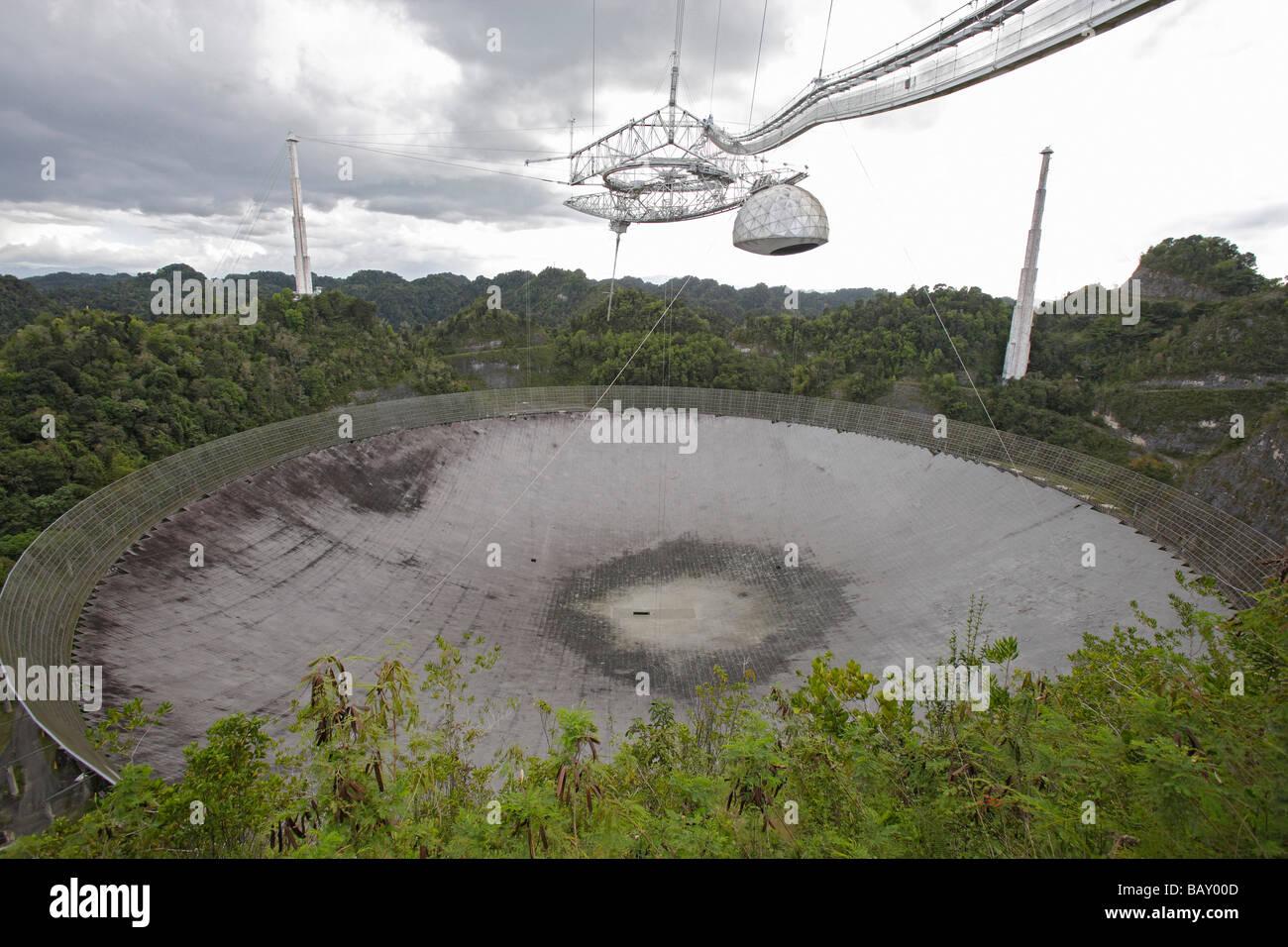 Osservatorio di Arecibo, radio telescopio, Arecibo, Puerto Rico Immagini Stock