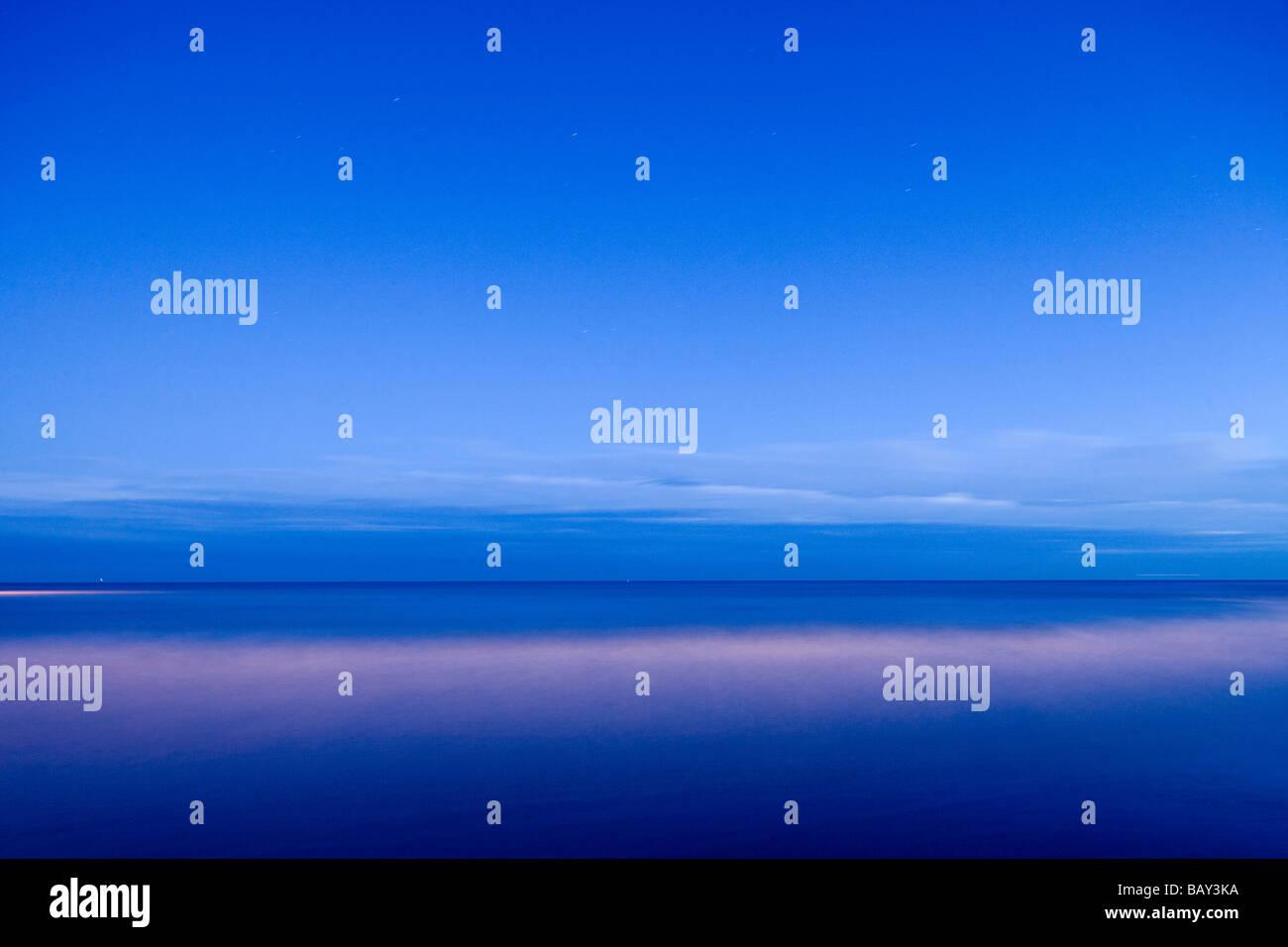 Spiaggia a Eastbourne nella luce della sera, East Sussex, Inghilterra, Europa Immagini Stock