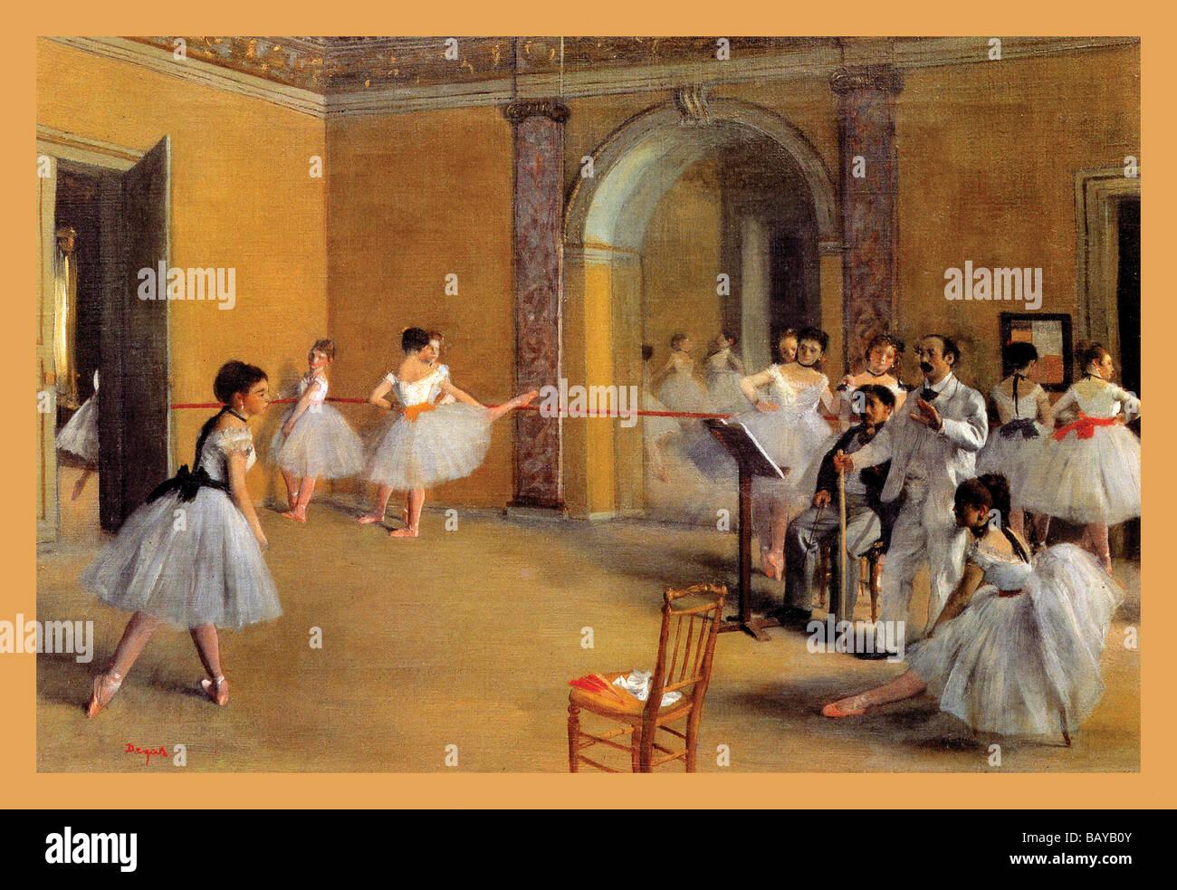 Lezioni di danza presso il Teatro dell'Opera Immagini Stock