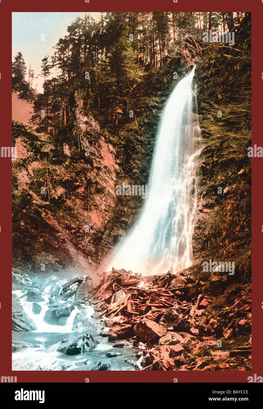 Valle del Lys e cascata de Cocur Immagini Stock