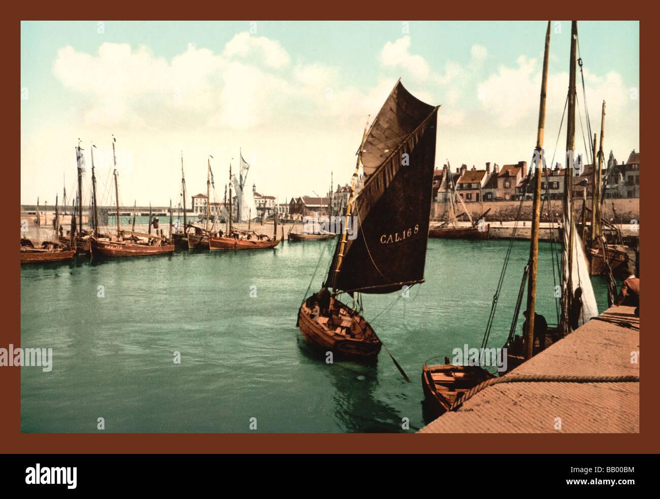 Porto di Calais Immagini Stock