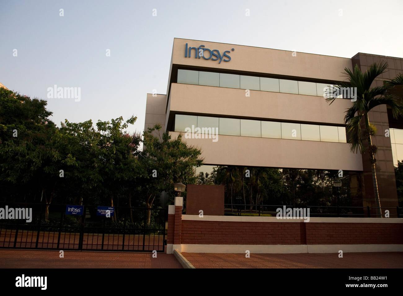 Un ufficio di Infosys, uno degli uffici moderni edifici nella città di elettronica, un sobborgo di Bangalore, Immagini Stock
