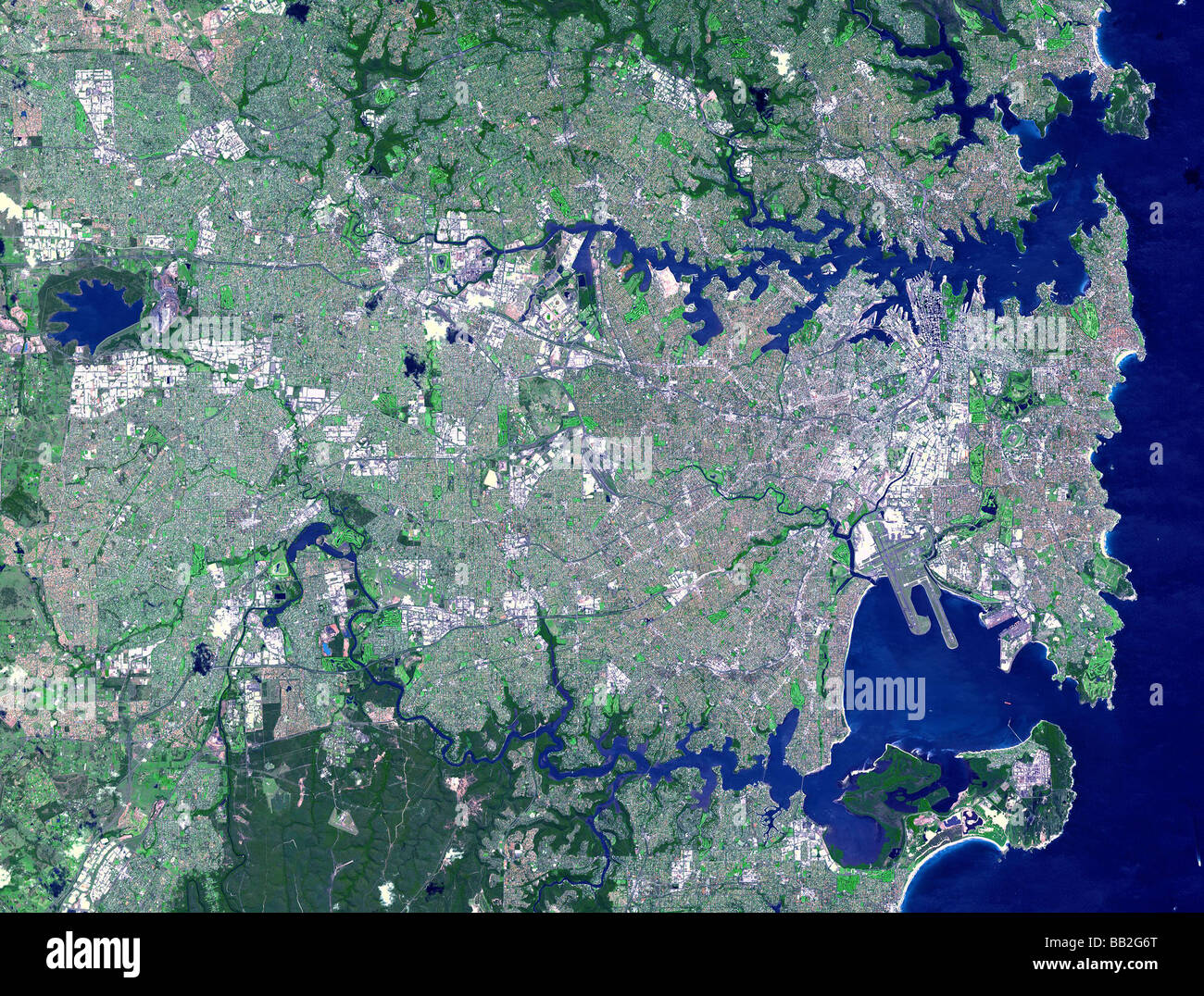 Ariel vista fiume credito Immagini NASA/JPL Immagini Stock