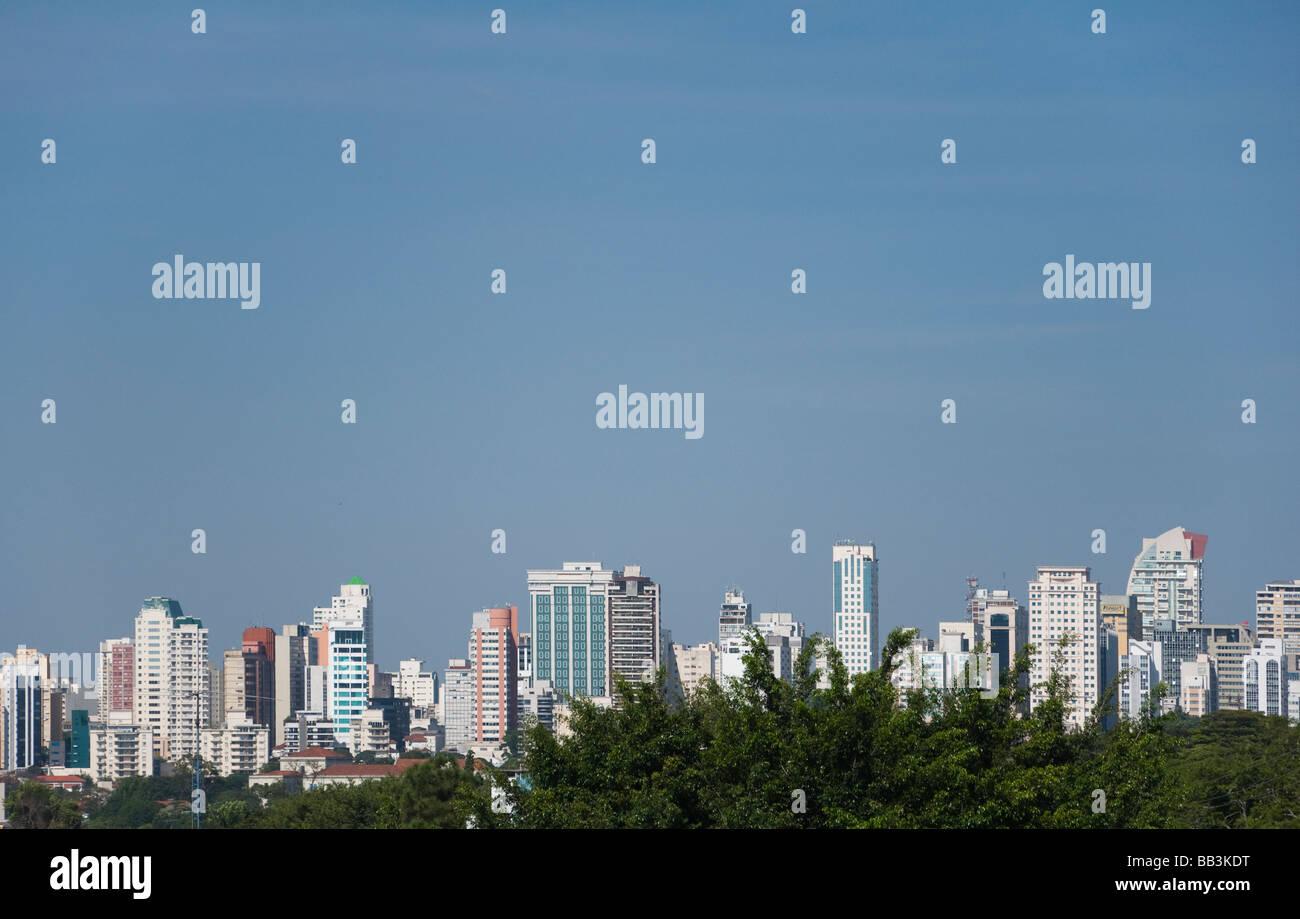 Angelica avenue in sao paulo, cityscape in Brasile Immagini Stock