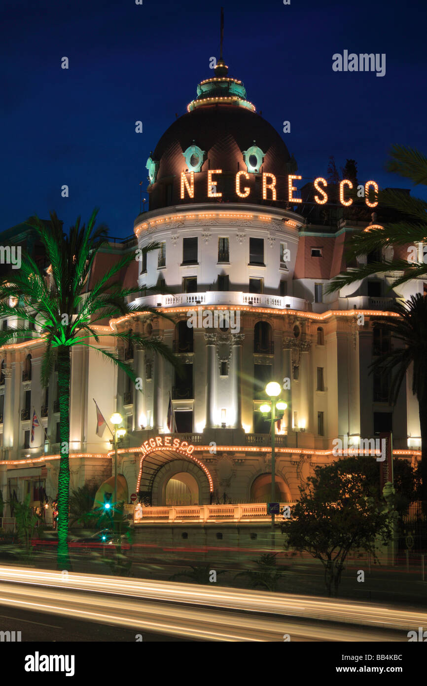 L'Hotel Negresco sulla Promenade des Anglais di Nizza, Francia Immagini Stock