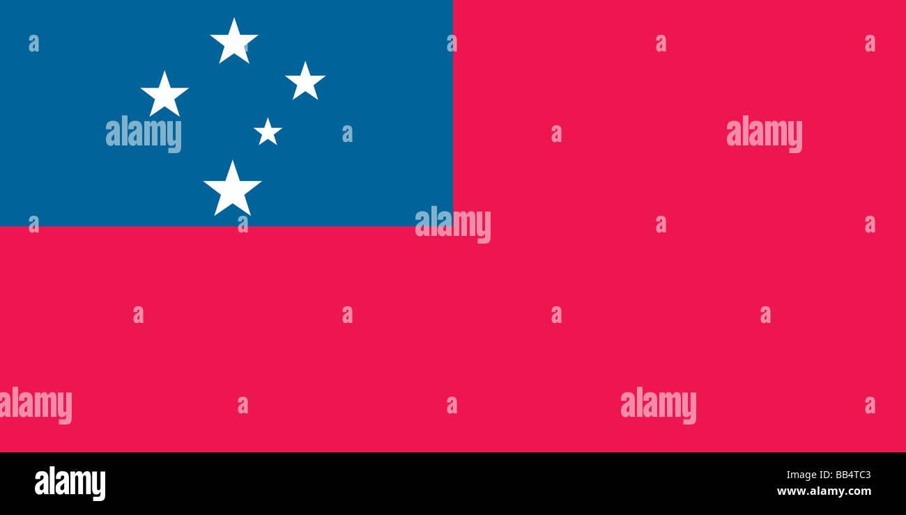 Bandiera di Samoa occidentale Immagini Stock