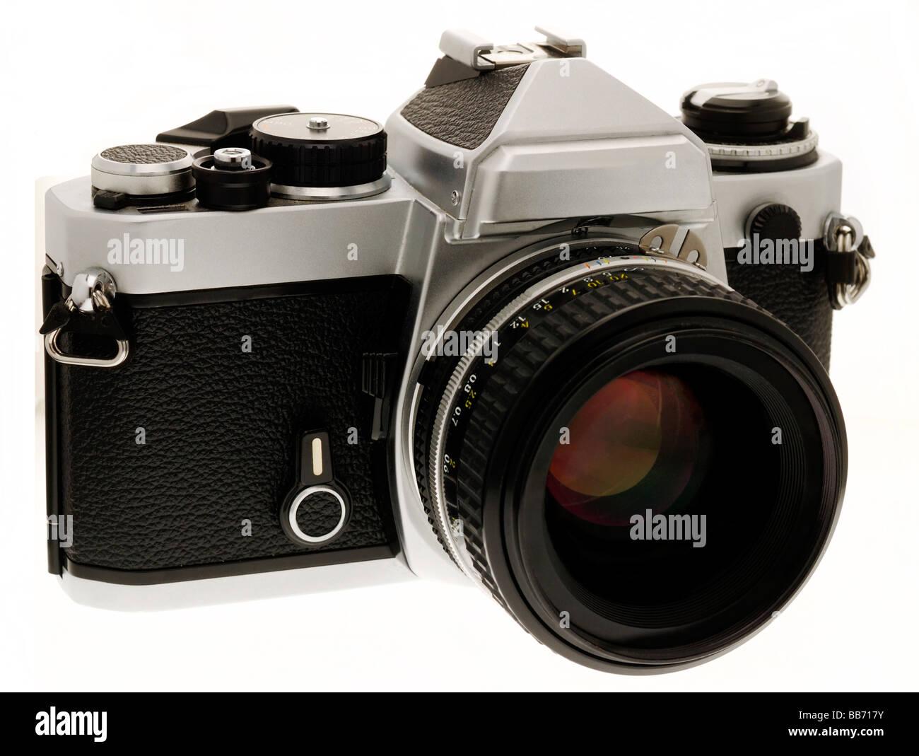 35mm Fotocamera reflex a obiettivo singolo Immagini Stock