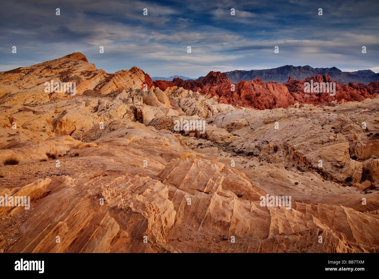 La Valle del Fuoco vicino a Las Vegas in Nevada USA Immagini Stock