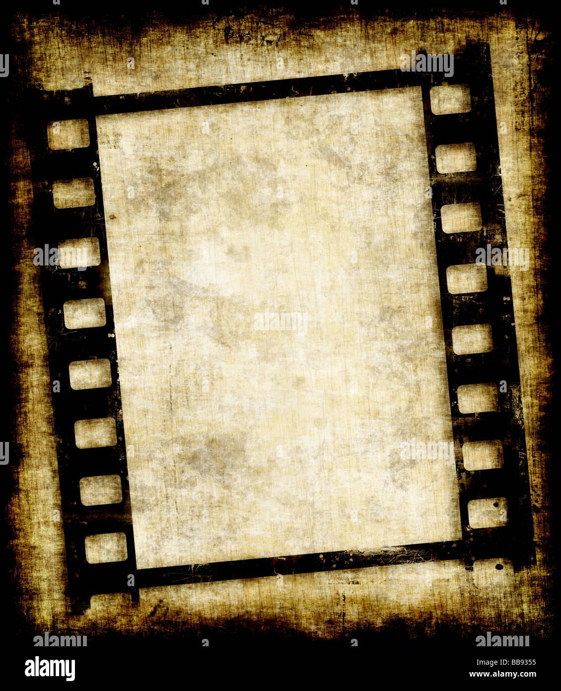 Vecchio grungy filmina o foto immagine negativa Immagini Stock