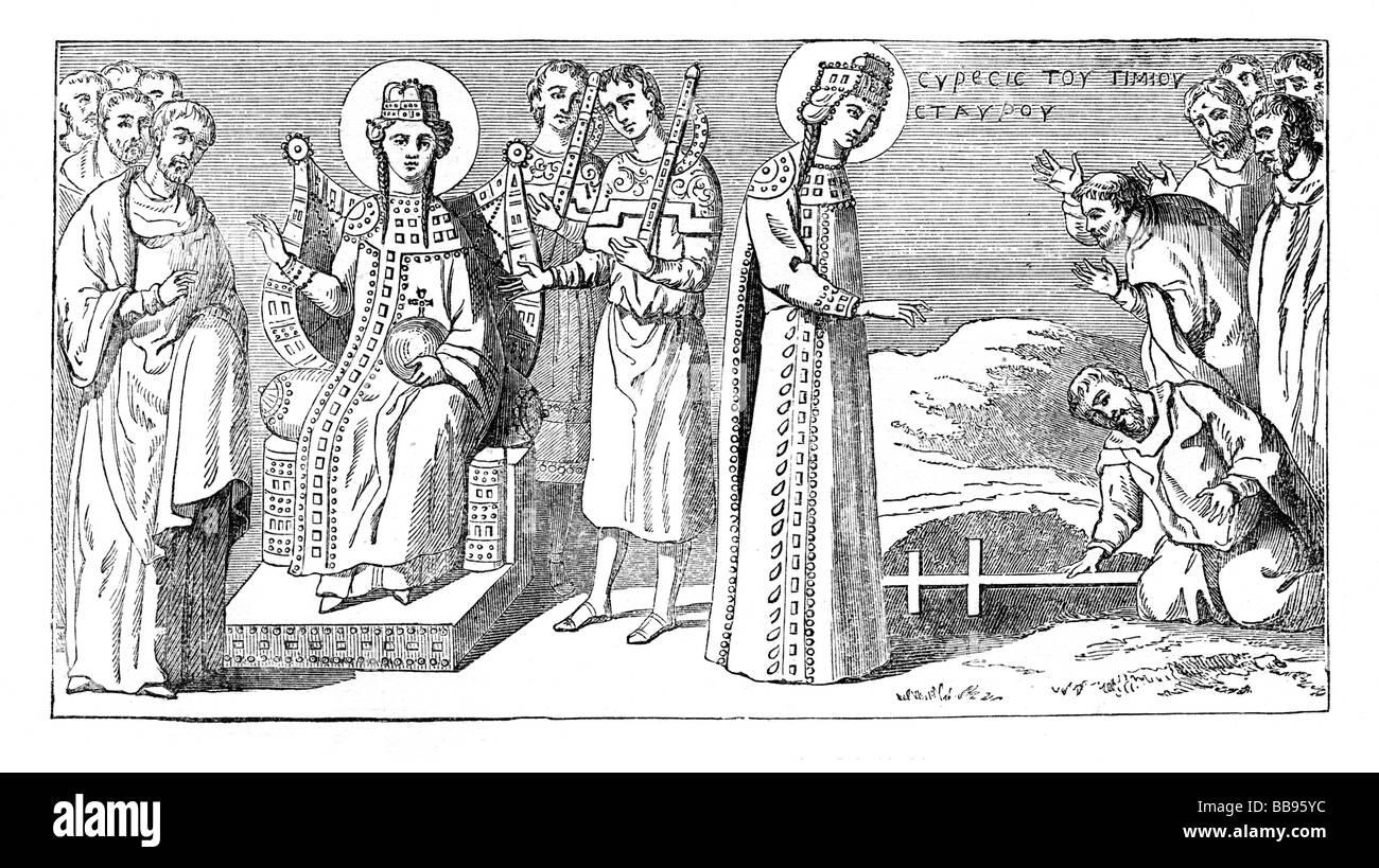 Saint Helena alla scoperta della Vera Croce Immagini Stock