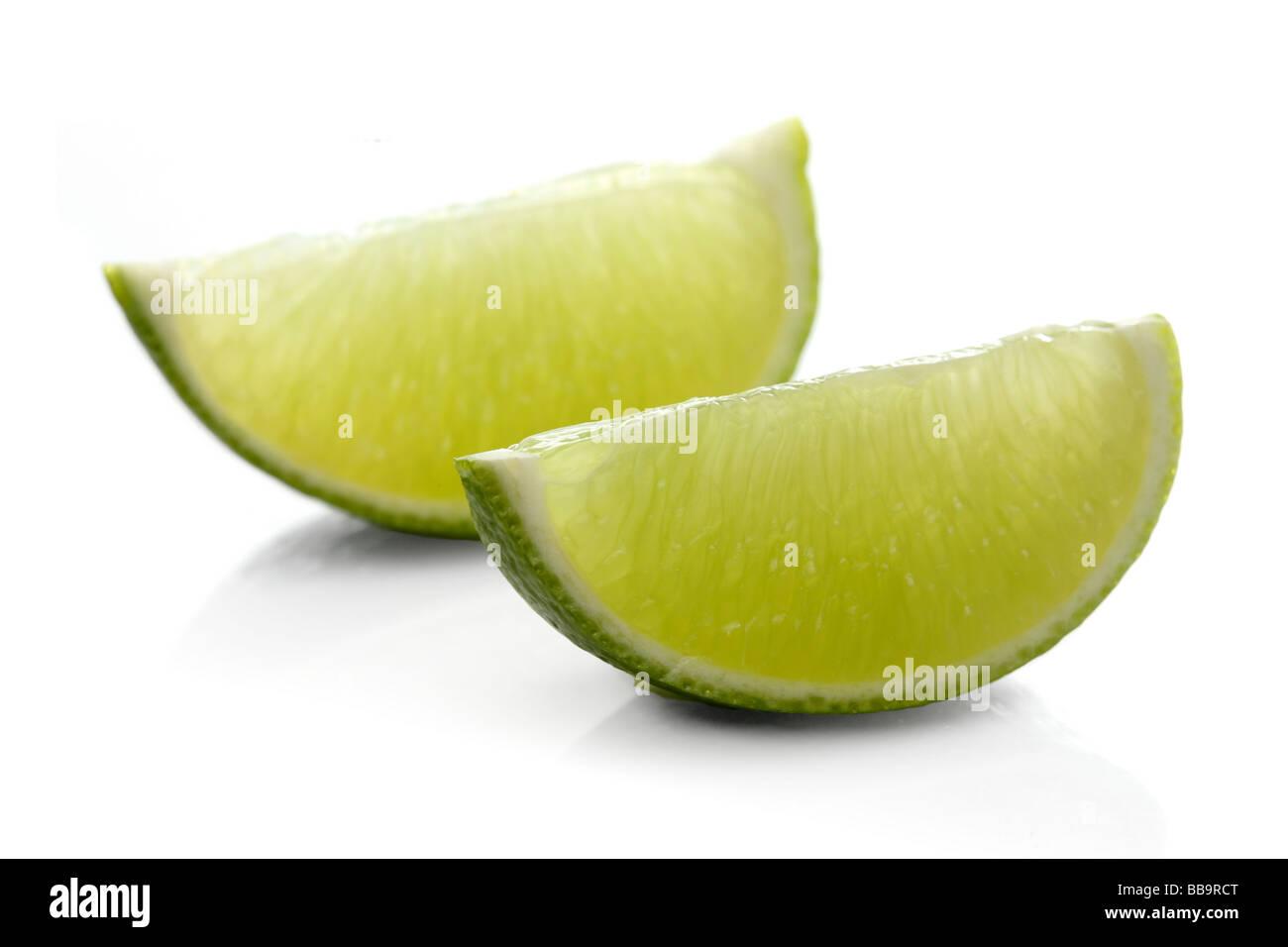 Fresco e verde lime aspro Immagini Stock