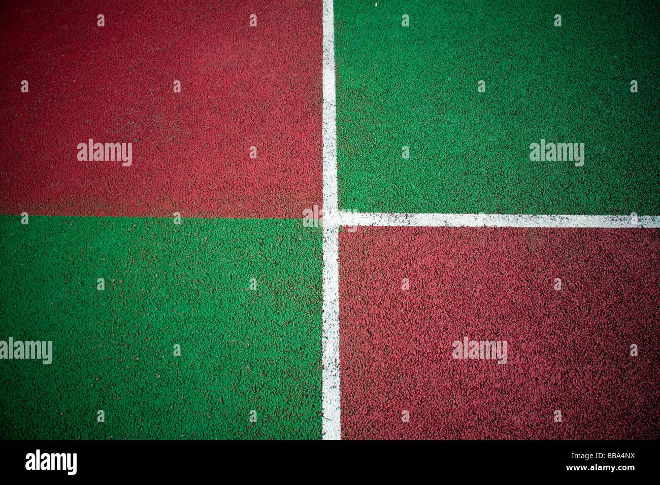 I colori astratti da una piscina campi da tennis per tutte le condizioni atmosferiche asfalto Immagini Stock