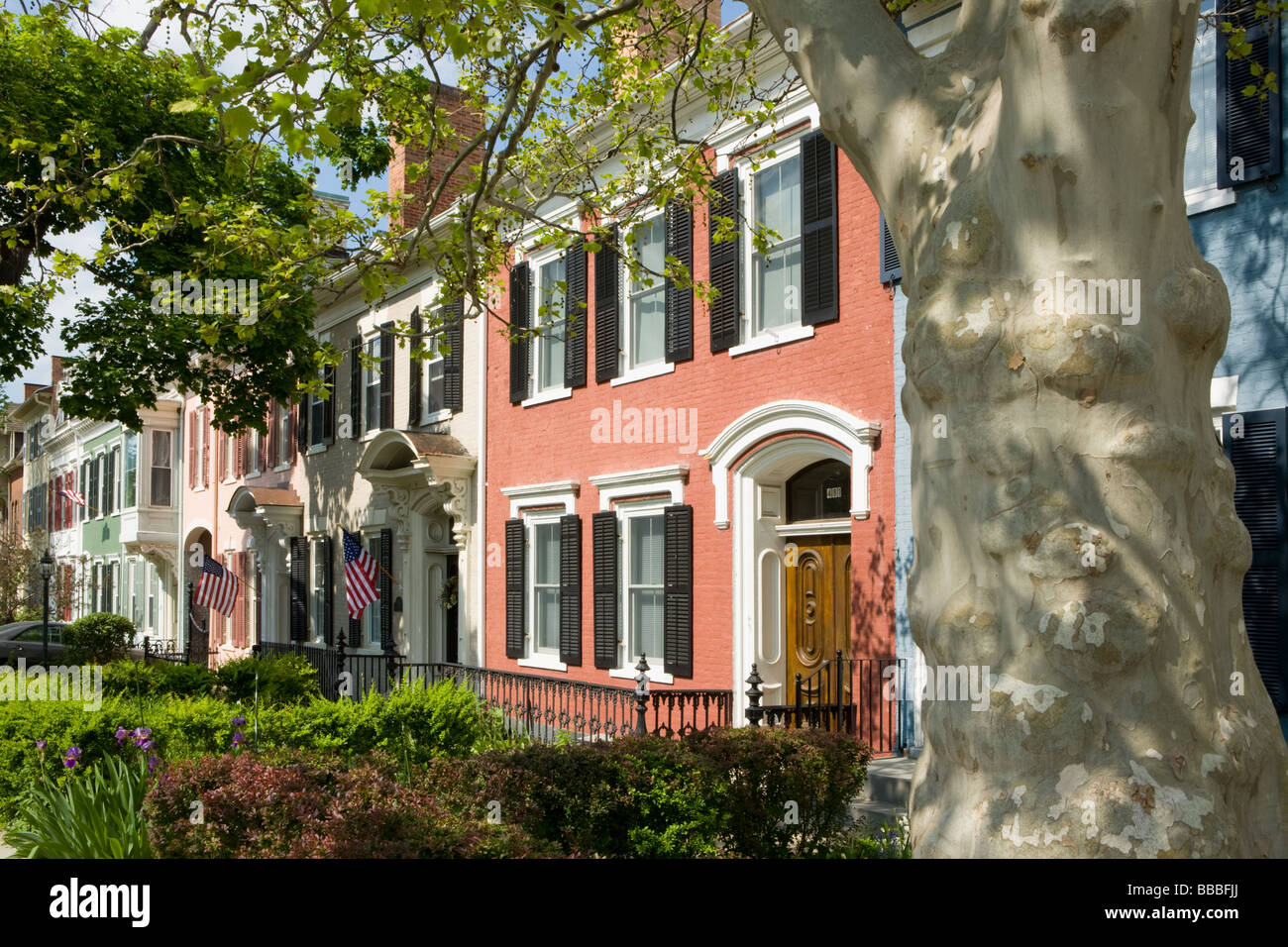Federale di architettura di stile a Ginevra New York Ontario County Regione dei Laghi Finger Immagini Stock