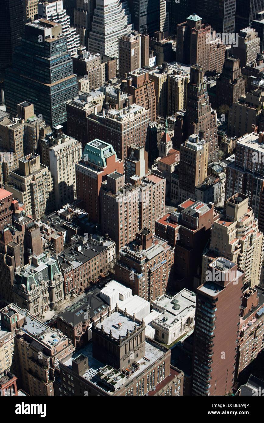 La città di New York, vista aerea Immagini Stock