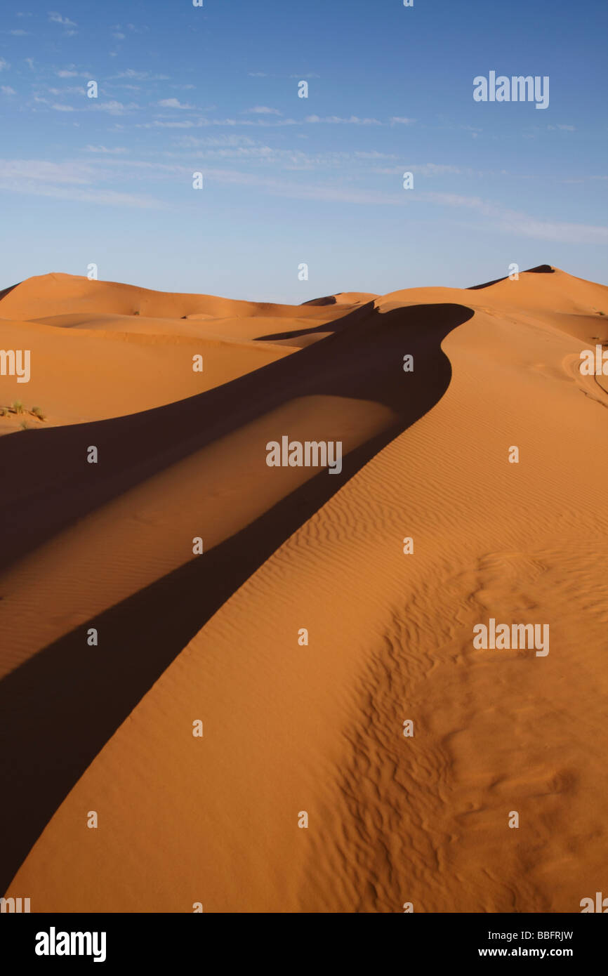 Africa, Nord Africa, Marocco deserto del Sahara, Merzouga Erg Chebbi Foto Stock