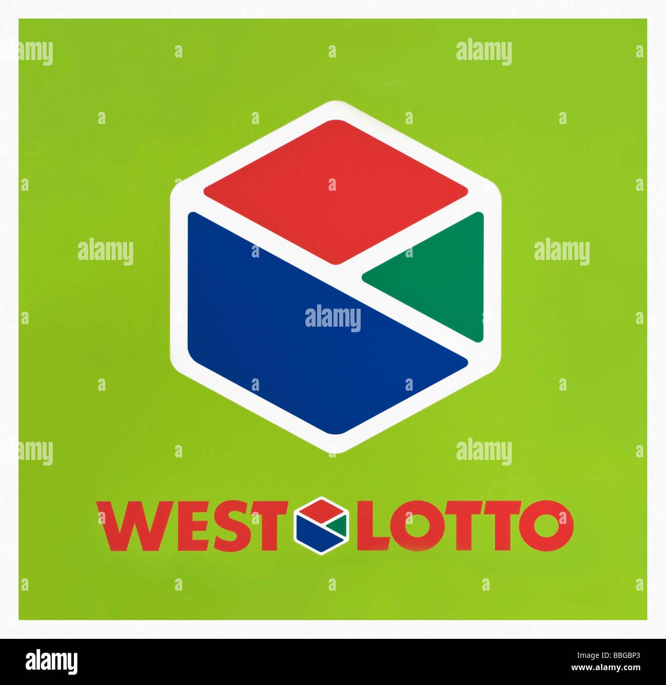 Il logo, West Lotto, lotteria Immagini Stock