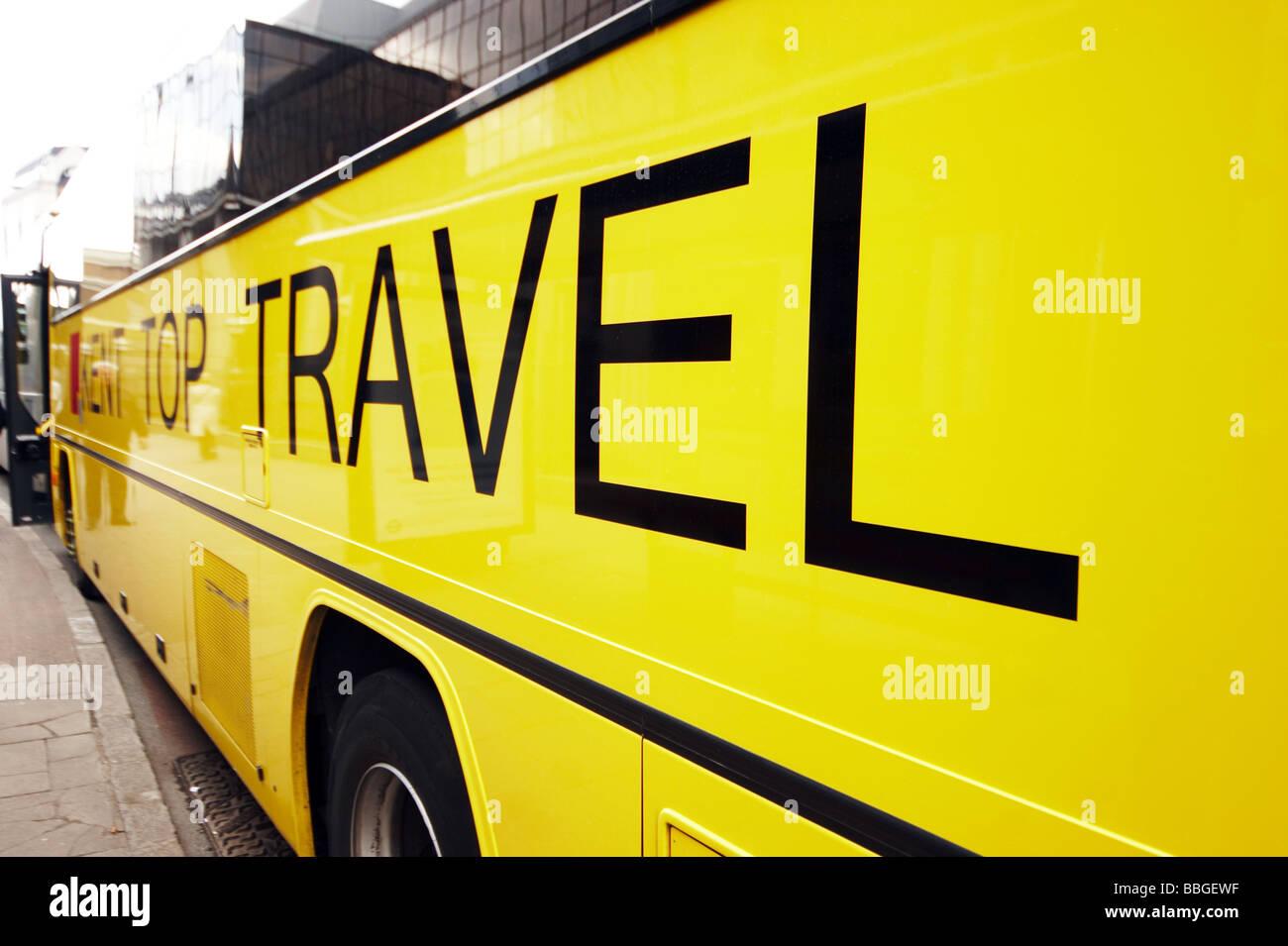 Autobus in Inghilterra, Regno Unito Immagini Stock